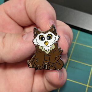 Owl Bear Pin